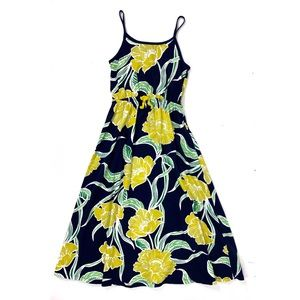 Gap Kids M 8 Maxi Dress Yellow Navy Floral